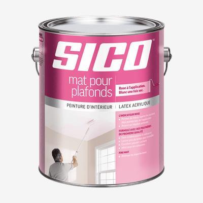 SICOᴹᴰ Peinture d'intérieur au latex mat pour plafonds avec indicateur rose