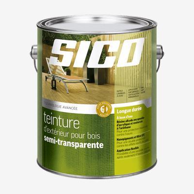SICOᴹᴰ  Teinture d'extérieur pour bois semi-transparente - formule avancée